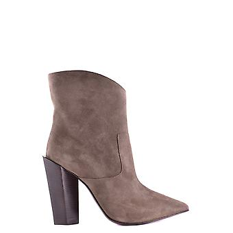 Fendi women's MCBI122015O brown suede ankle boots