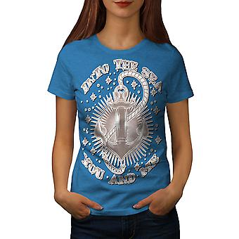 Into Sea Together Women Royal BlueT-shirt | Wellcoda