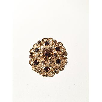 Gold and Copper Brooch