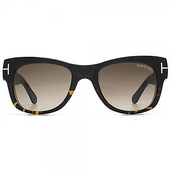 Tom Ford Cary zonnebril In Black & Havana Roviex