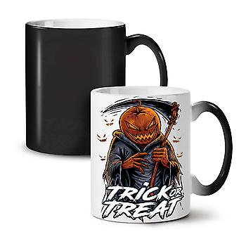 Jack Trick Treat NEW Black Colour Changing Tea Coffee Ceramic Mug 11 oz | Wellcoda