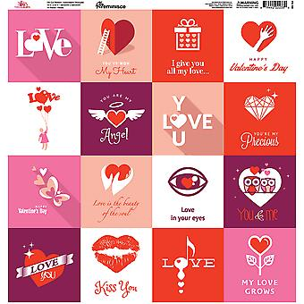 Forever Hearts Square Stickers 12