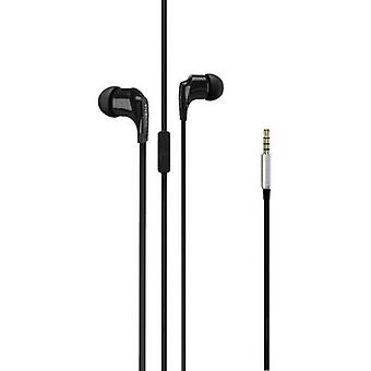 Headphones Vivanco Talk 4 In-ear Headset Black