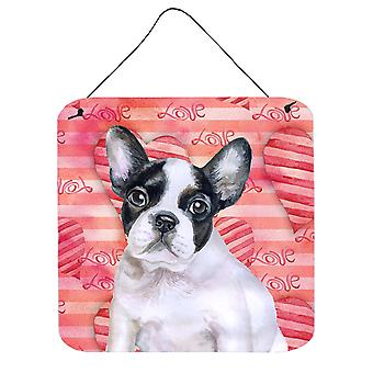 French Bulldog Black White Love Wall or Door Hanging Prints