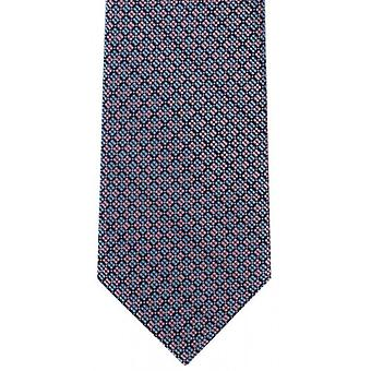 Michelsons of London Checkerboard Grid Polyester Tie - Pink