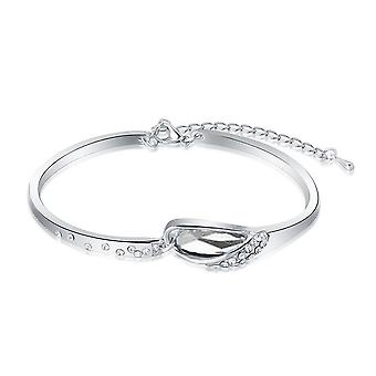 Womens Clear Crystal Stone Bangle Bracelet