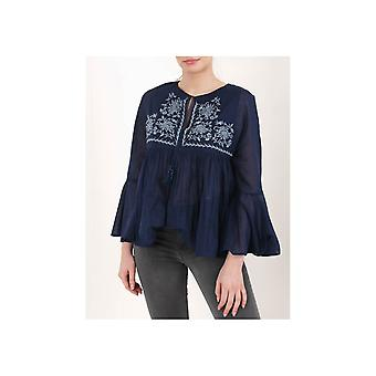 Replay Embroided Tassel Tie Top