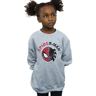 Marvel Girls Spider-Man Classic Split Sweatshirt