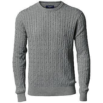 Nimbus Mens Winston katoen klassieke kabel brei Jumper Sweatshirt