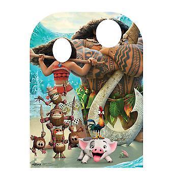 Moana barn størrelse står - i officielle Disney pap påklædningsdukke / Standee