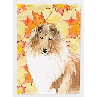 Carolines Treasures  CK1830GF Fall Leaves Rough Collie Flag Garden Size