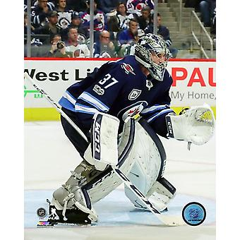 Connor Hellebuyck 2017-18 Action Photo Print