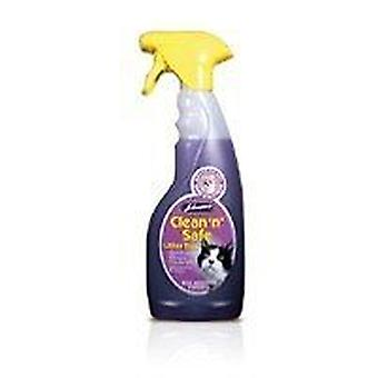 Johnsons Clean 'n' Safe Litter Disinfectant Tray Spray  for Cat 500ml