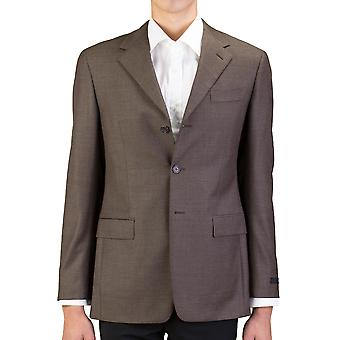 Prada Men's Virgin Wool Three-Button Sportscoat Jacket Brown