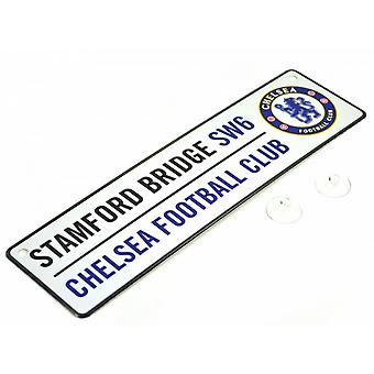Chelsea FC Official Football 3D Embossed Metal Hanging Street Sign