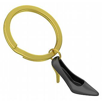 Black & Gold High Heel Shoe Keyring