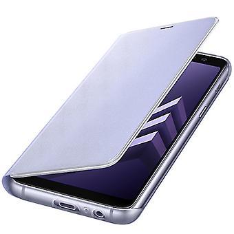 Samsung Neon Flip Cover Hülle EF-FA530PVEGWW Galaxy A8 2018 A530F Schutzhülle Orchid Grey / Lila