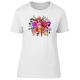 Bright Burgundy Flowers Tee Women's -Image by Shutterstock