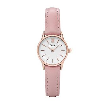 Cluse Cl50010 La Vedette Rose Gold & Pink Leather Ladies Watch