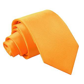 Plaine d'Orange Fluorescent Satin régulier cravate pour les garçons
