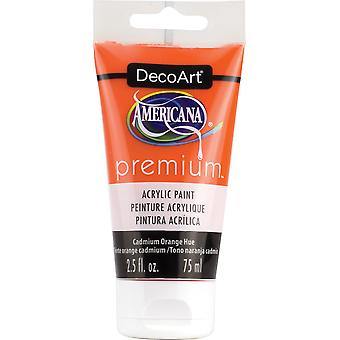 Americana Premium Acrylic Paint Tube 2.5Oz-Cadmium Orange Hue