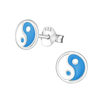 Yin-Yang - 925 Sterling Silver Colourful Ear Studs