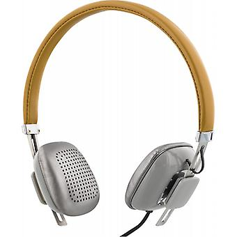 STREETZ headphones with microphone, answer key, 1, 3 m cable, Brown/silver