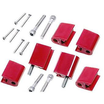 Taylor Cable 42726 Red Vertical Mounting Bracket for Clamp Style Wire Separators