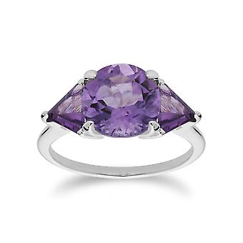 Gemondo Sterling Zilver Triple Amethyst februari Ring