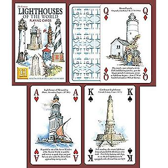 Lighthouses Of The World Set Of 52 Playing Cards (+ Jokers)
