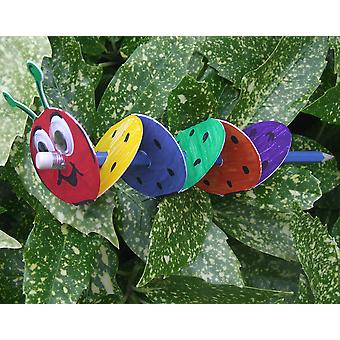 10 Pencil Caterpillar Card Blanks to Decorate - Kids Bug Crafts