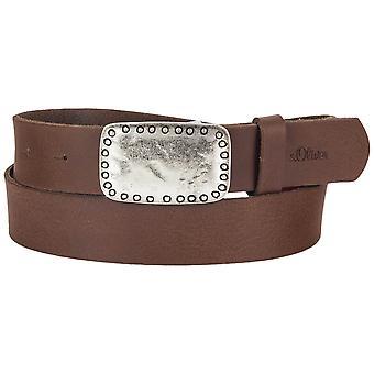 s.Oliver women's leather belt 32.608.95.7054-8759