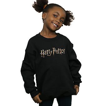 Harry Potter Girls Full Colour Logo Sweatshirt