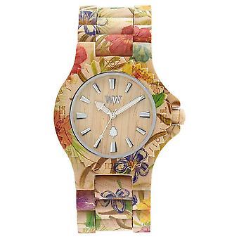 WeWood Womens Date Flower Beige Wooden Strap 70221200 Watch