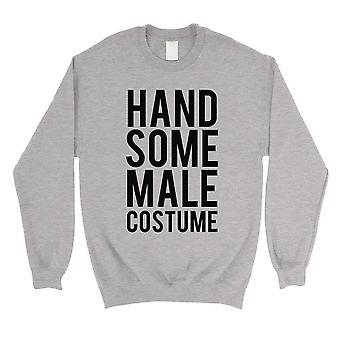 Knappe mannelijke kostuum Unisex grijs Crewneck Sweatshirt