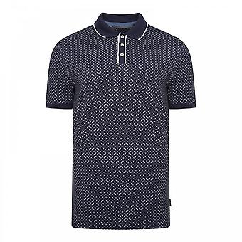Ted Baker Mens Marsmal All Over Geo Polo Shirt (Navy)