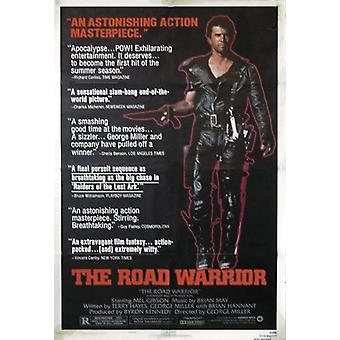 Mad Max II poster the road warrior Mel Gibson, Bruce Spense, Vernon Wells
