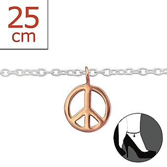 Peace - 925 Sterling Silver Anklets - W29979x