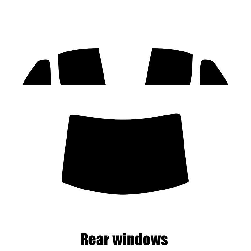 Pre cut window tint - VW Jetta Estate - 2001 to 2005 - Rear windows