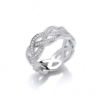 Cavendish French Silver and CZ Weave Band Ring