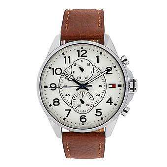 Tommy Hilfiger stylish men's watch with date display silver