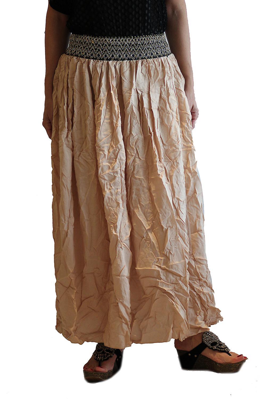 Waooh - Fashion - elastic waist skirt embroidered long