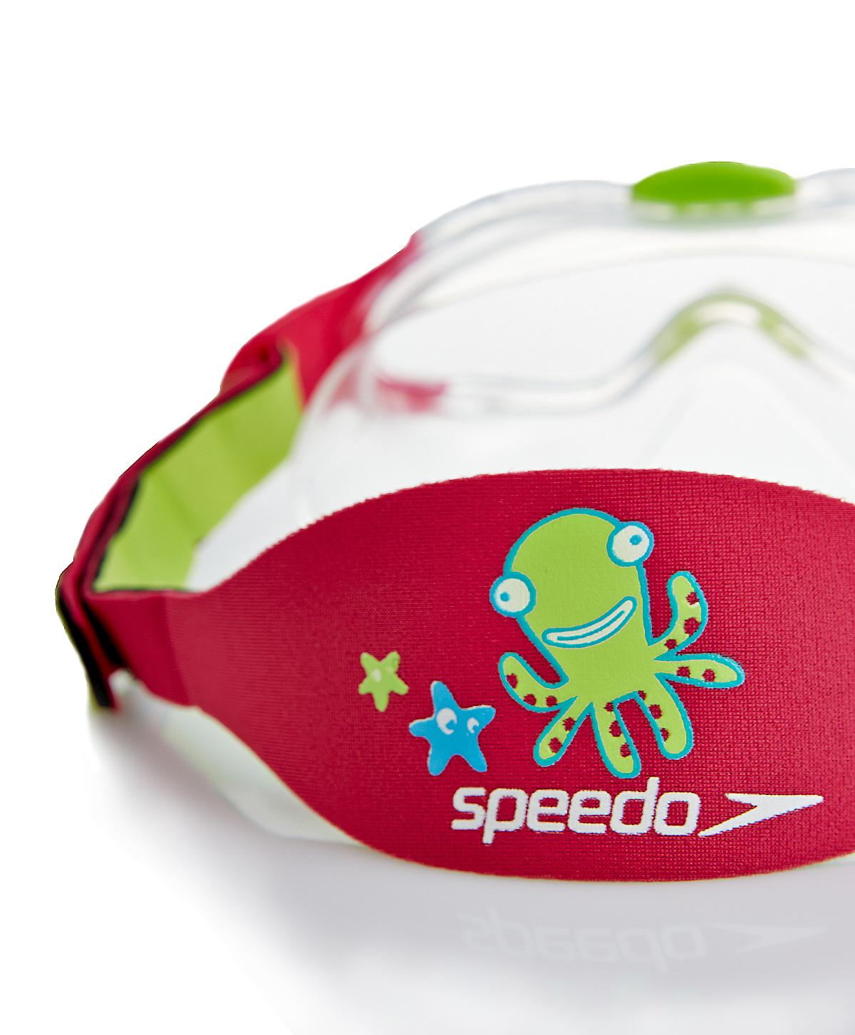 Speedo Sea Squad Junior simma Mask - klart objektiv - rosa