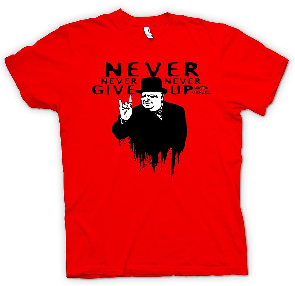 Mens t-skjorte - Winston Churchill salutt - WW2