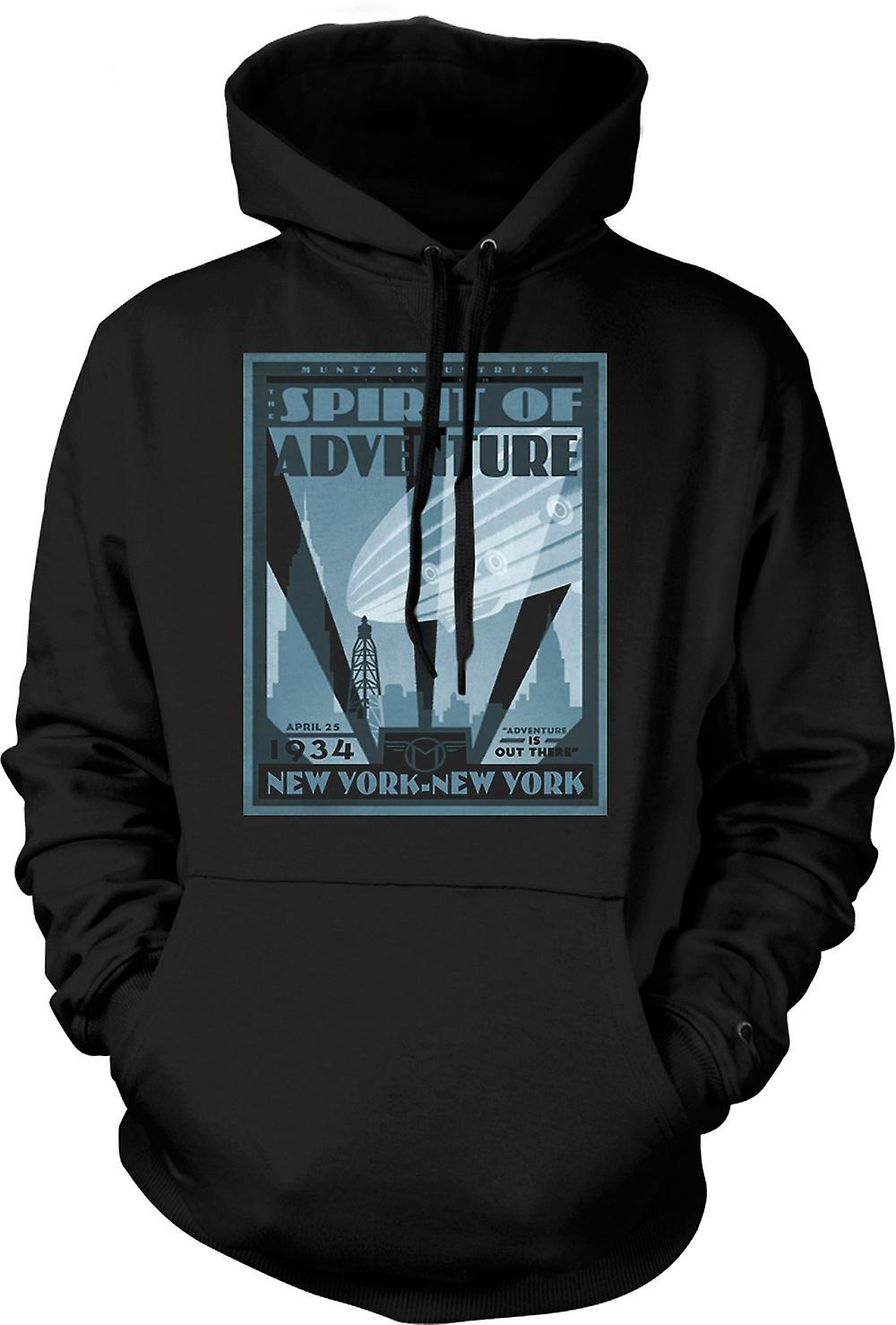 Mens Hoodie - Muntzs industrier New York - Cool