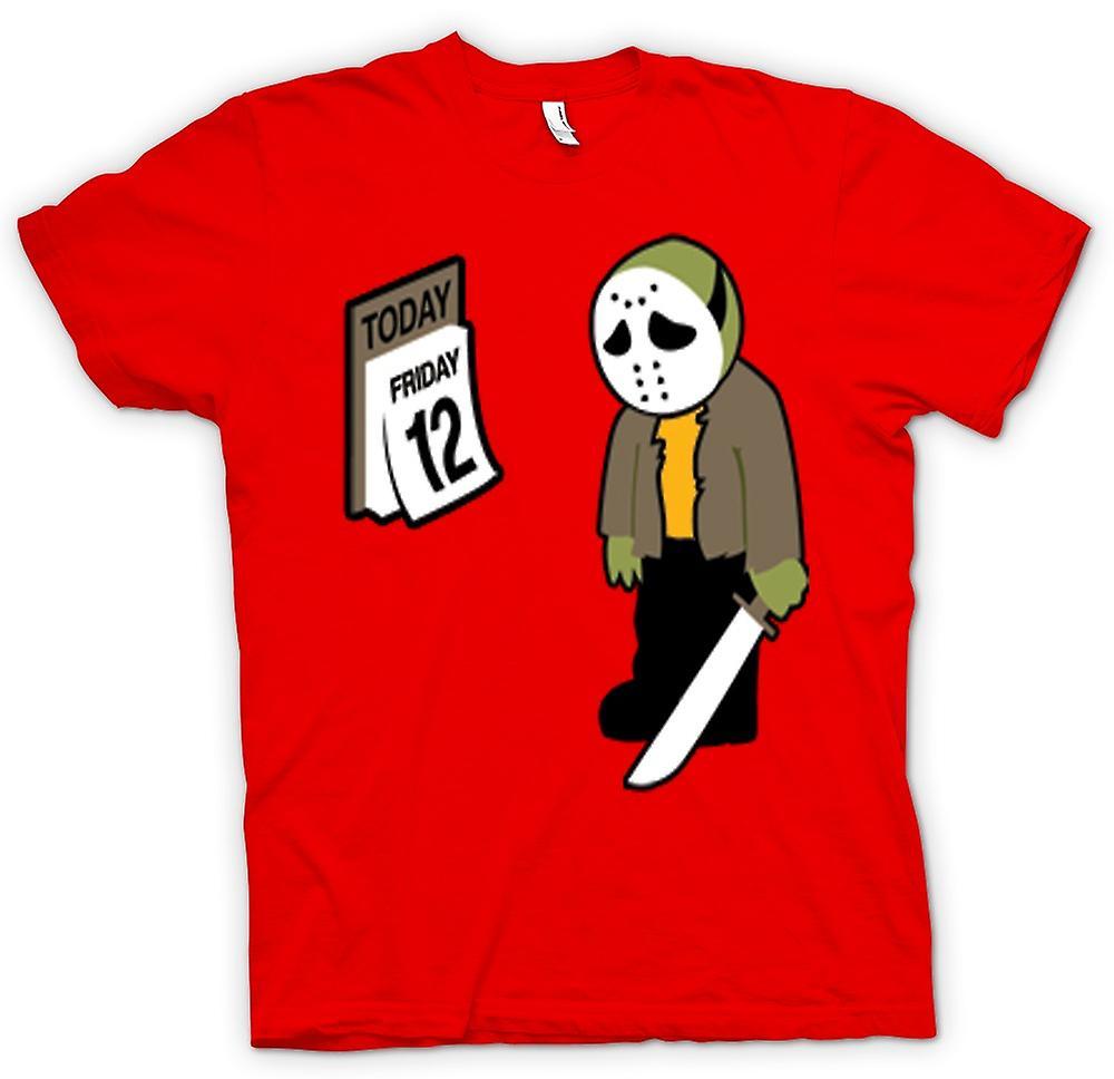 Mens t-skjorte-fredag den 12 Jason Voorhees