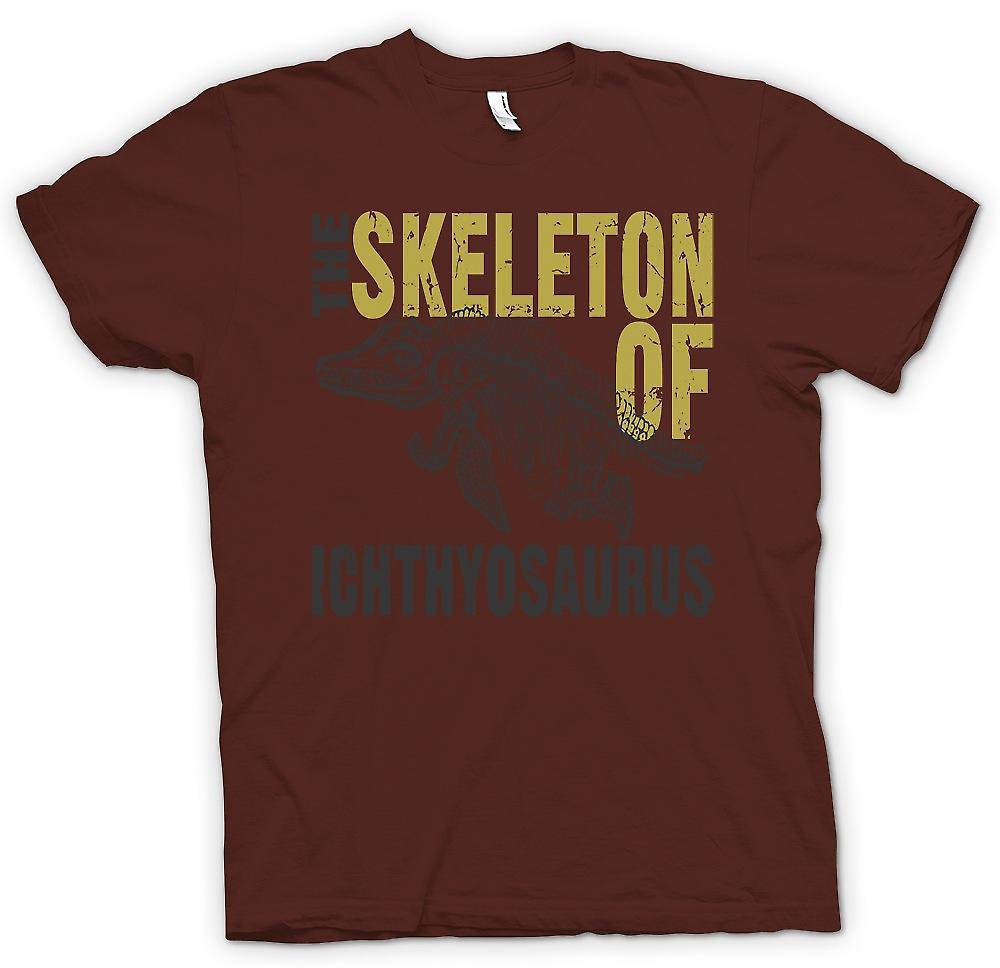 Mens T-shirt-le Skelton de Ichthyosaurus
