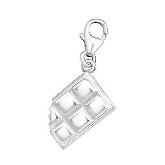 Chocolate Bar - 925 Sterling Silver Charms with Lobster - W11371X
