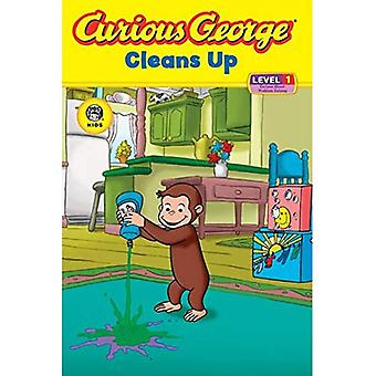 Curious George Cleans Up: Level 1: Curious about Technology (Curious George - Level 1)