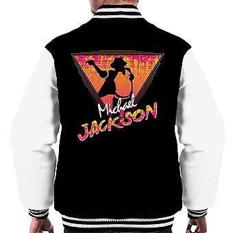 Michael Jackson Retro 80s Silhouette Men's Varsity Jacket
